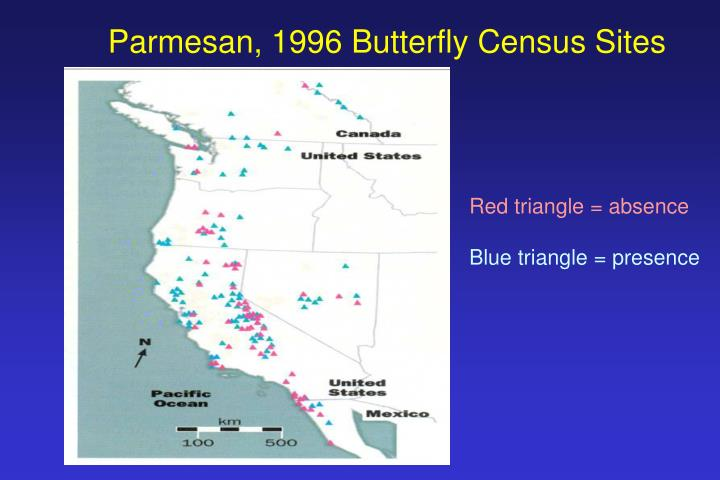 Parmesan, 1996 Butterfly Census Sites