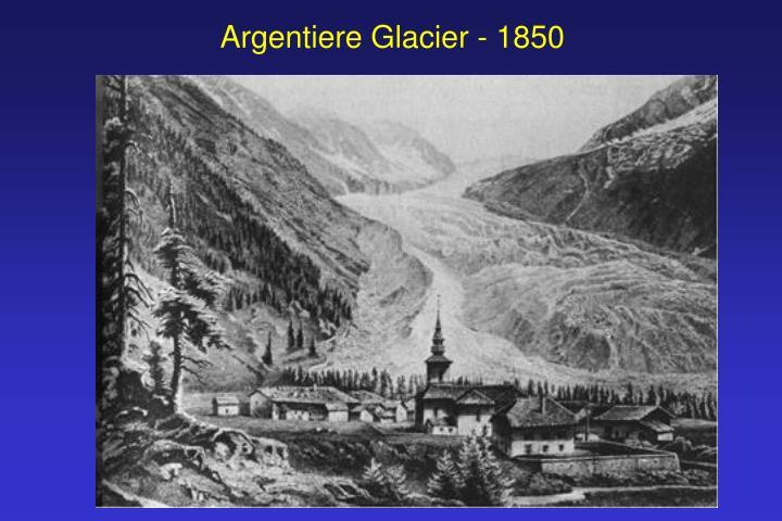 Argentiere Glacier - 1850