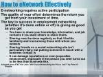 how to enetwork effectively