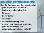 how to use your marketing plan17