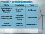 product key competencies
