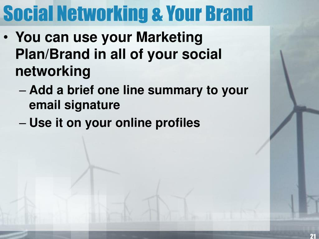 Social Networking & Your Brand