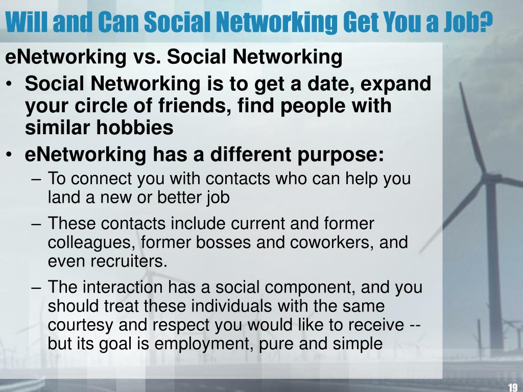 Will and Can Social Networking Get You a Job?