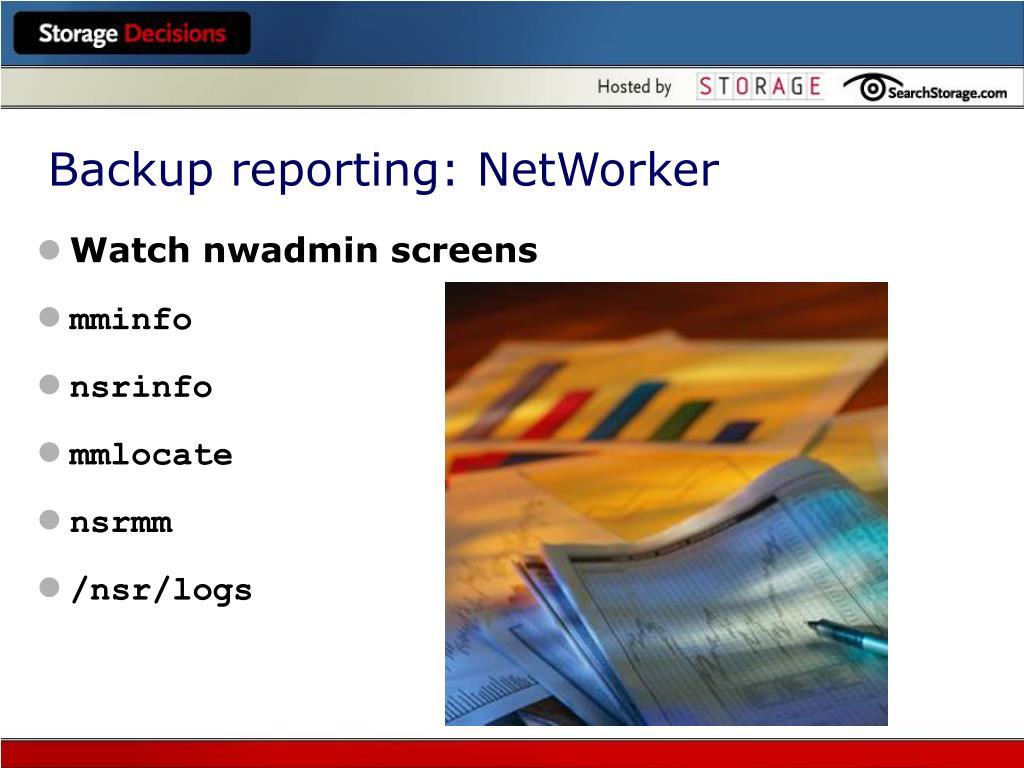 Watch nwadmin screens