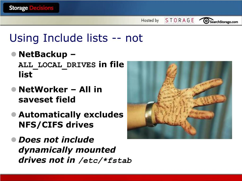 Using Include lists -- not