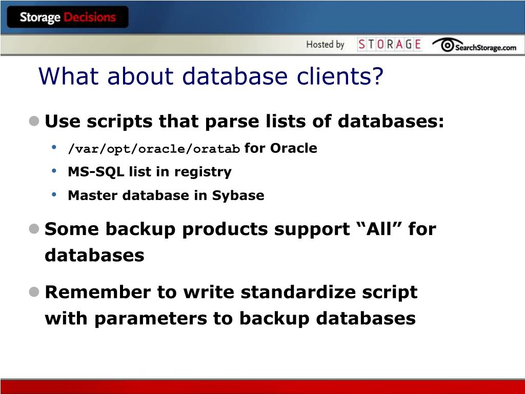 What about database clients?