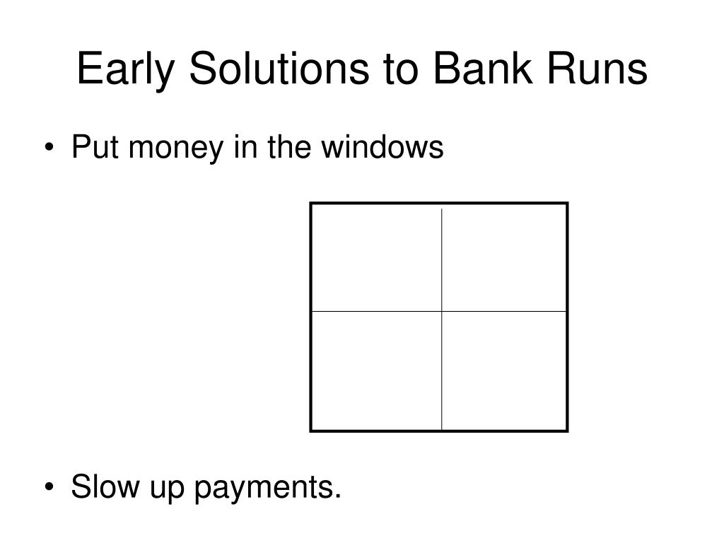 Early Solutions to Bank Runs