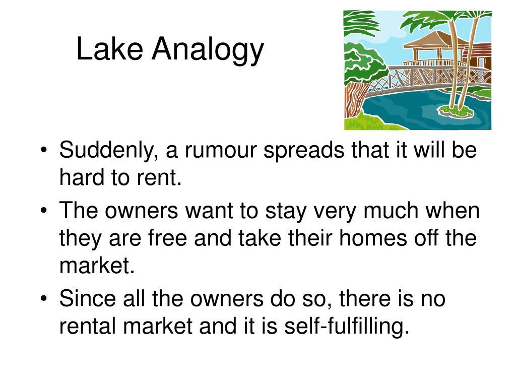 Lake Analogy