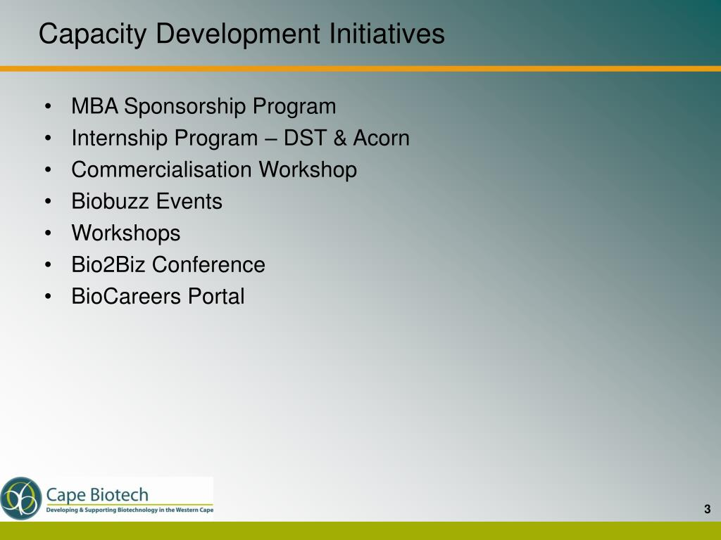 Capacity Development Initiatives