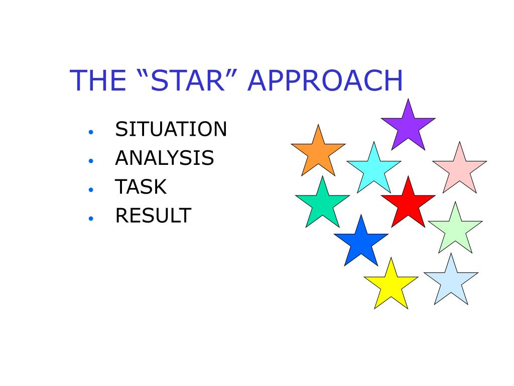 "THE ""STAR"" APPROACH"