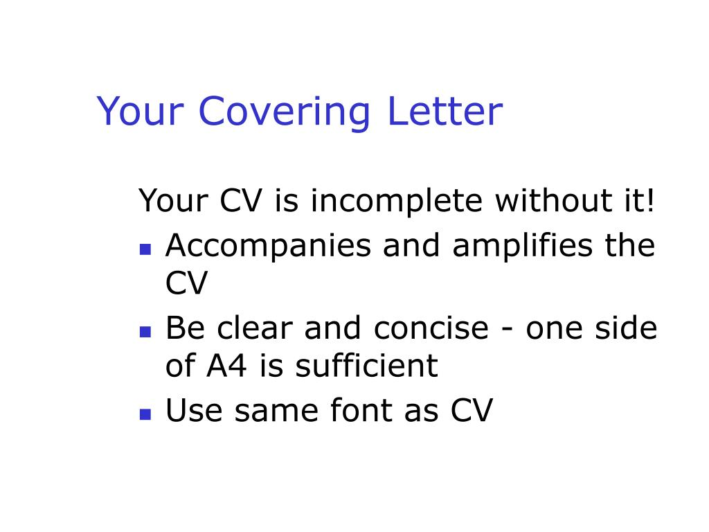 Your Covering Letter