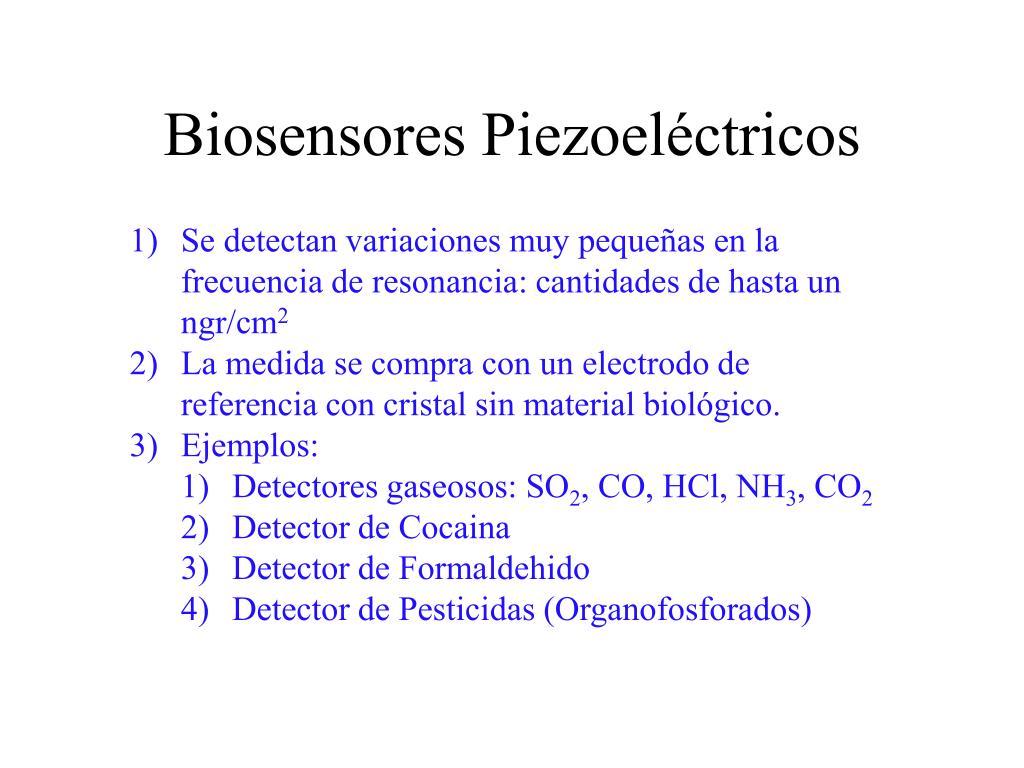 Biosensores Piezoeléctricos
