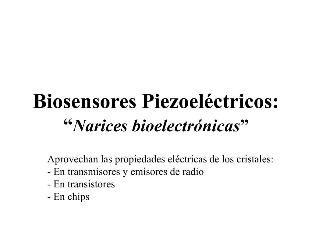 Biosensores Piezoeléctricos: