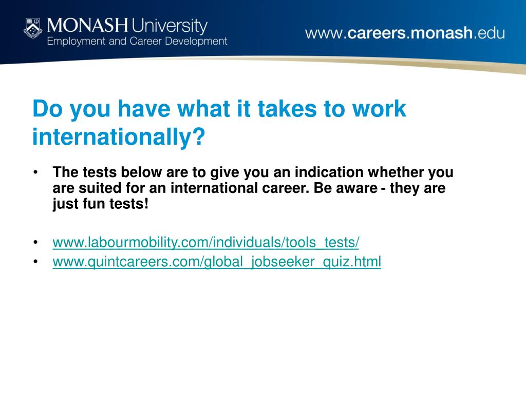 Do you have what it takes to work internationally?