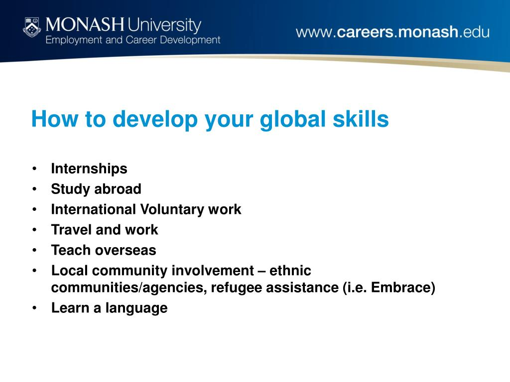 How to develop your global skills