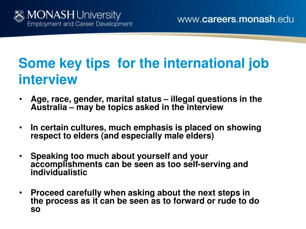 Some key tips  for the international job interview