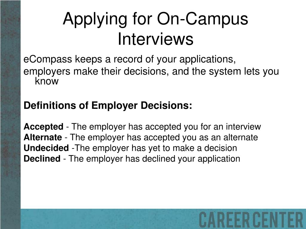Applying for On-Campus Interviews