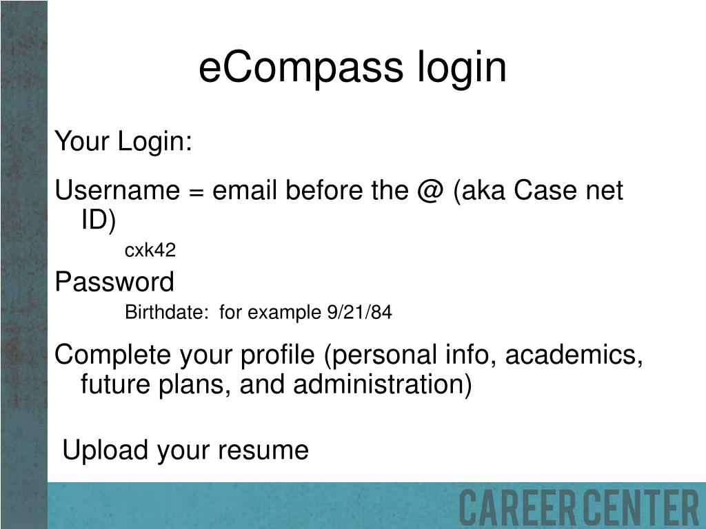 eCompass login