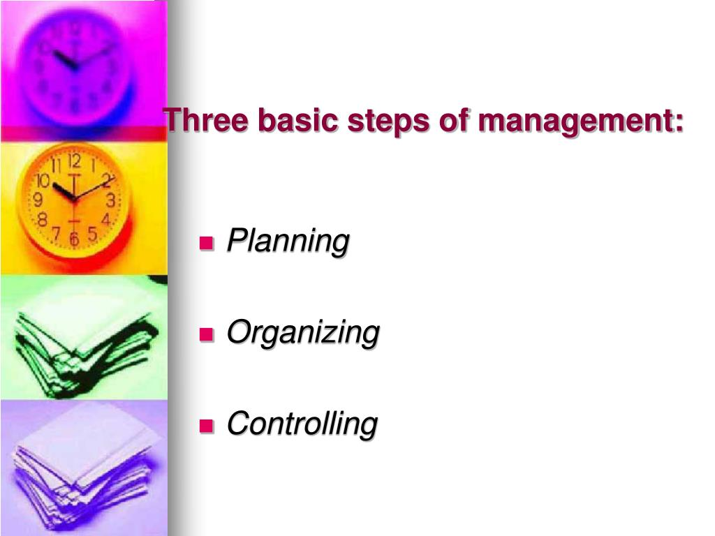 Three basic steps of management: