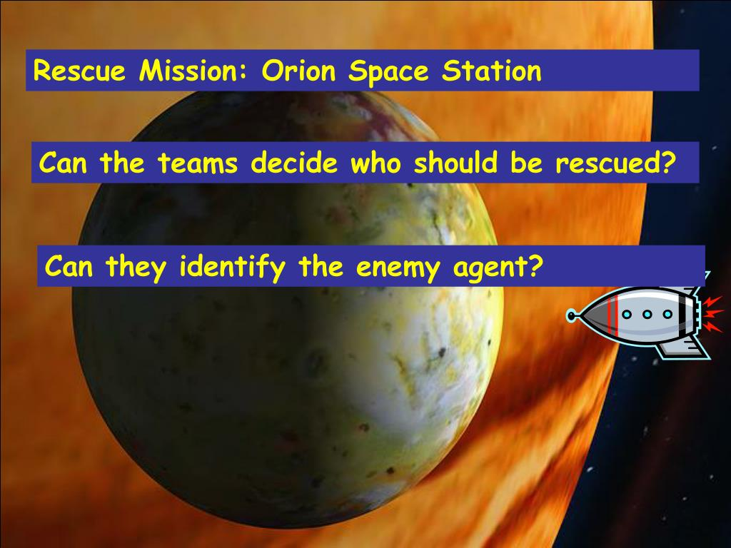 Rescue Mission: Orion Space Station