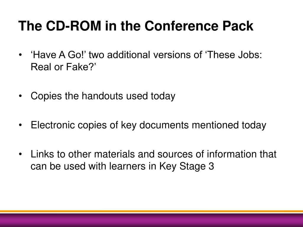 The CD-ROM in the Conference Pack