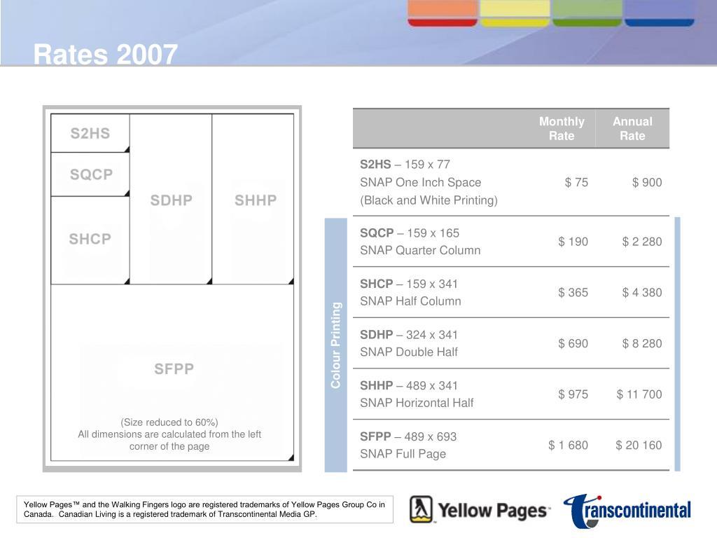 Rates 2007
