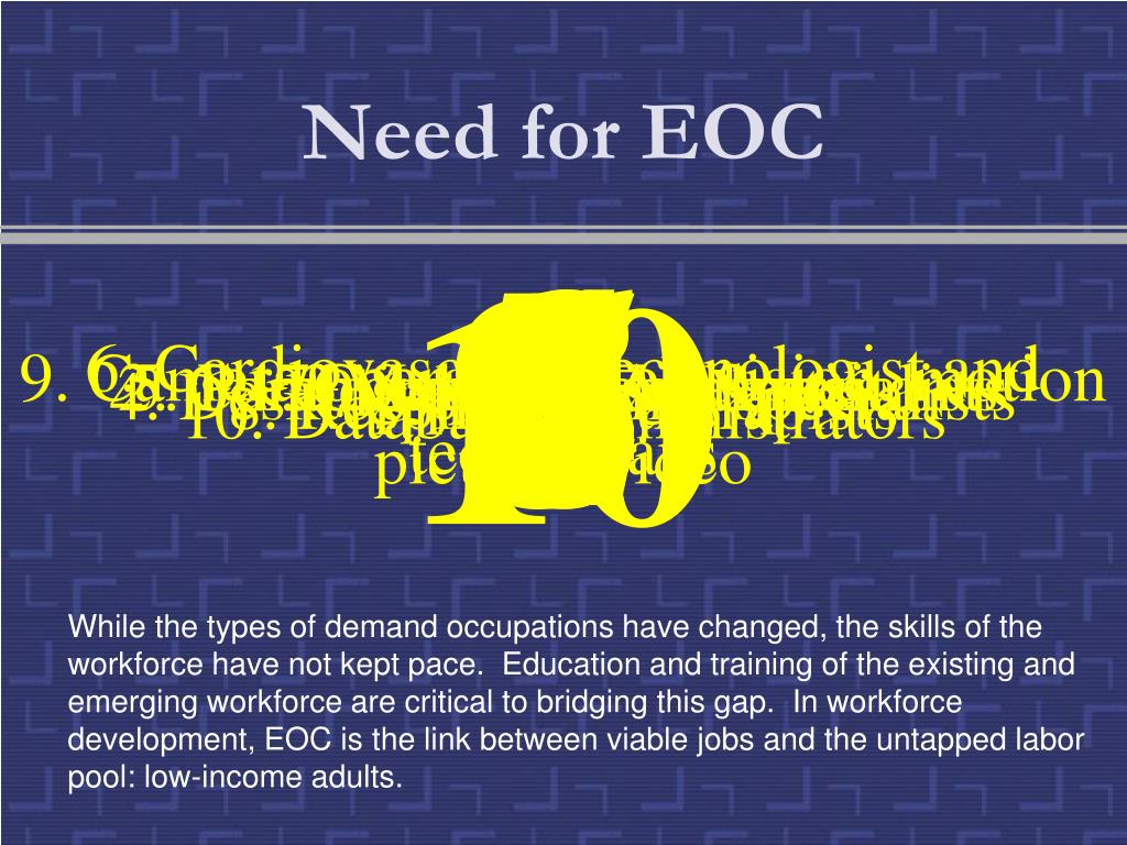 Need for EOC