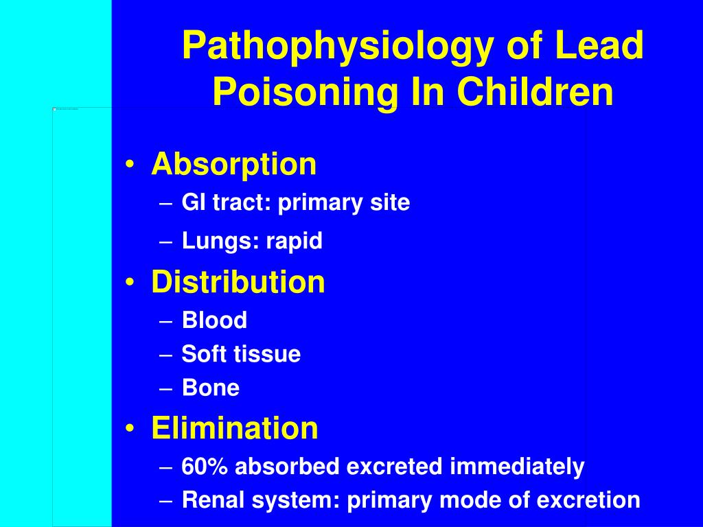 Pathophysiology of Lead Poisoning In Children