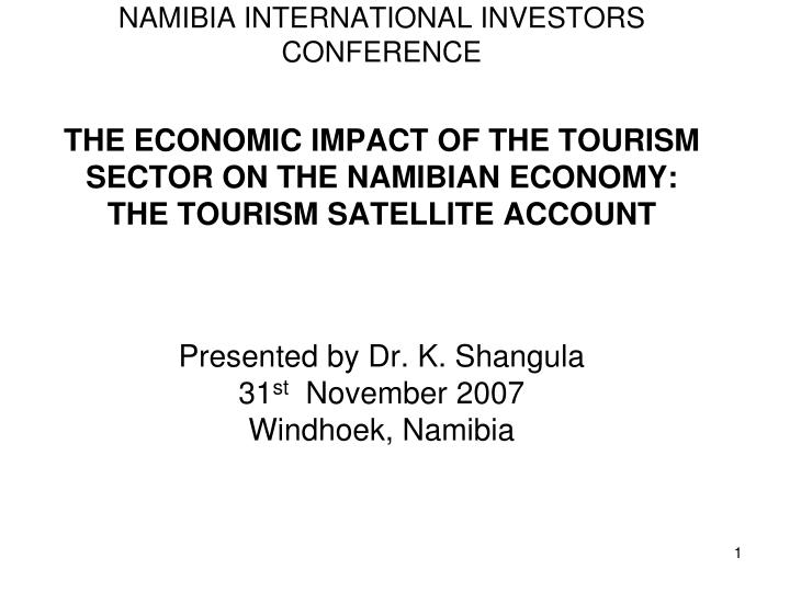 NAMIBIA INTERNATIONAL INVESTORS CONFERENCE