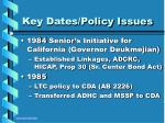 key dates policy issues13