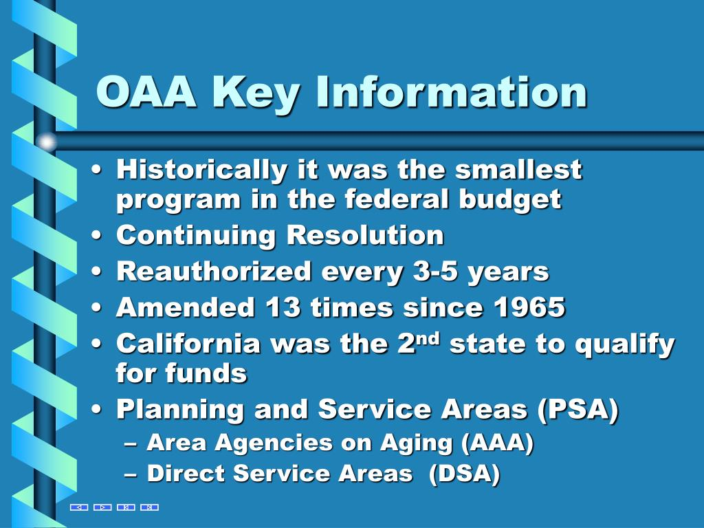 OAA Key Information