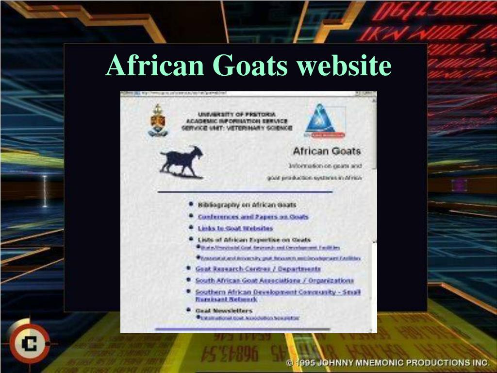 African Goats website