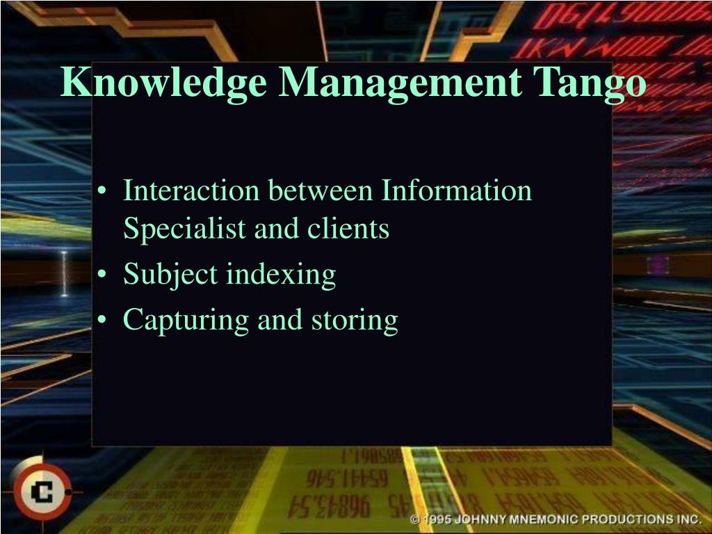 Knowledge Management Tango