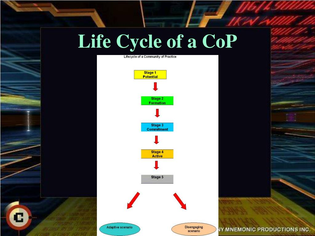 Life Cycle of a CoP