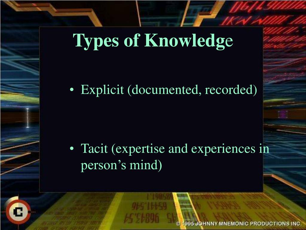 Types of Knowledg