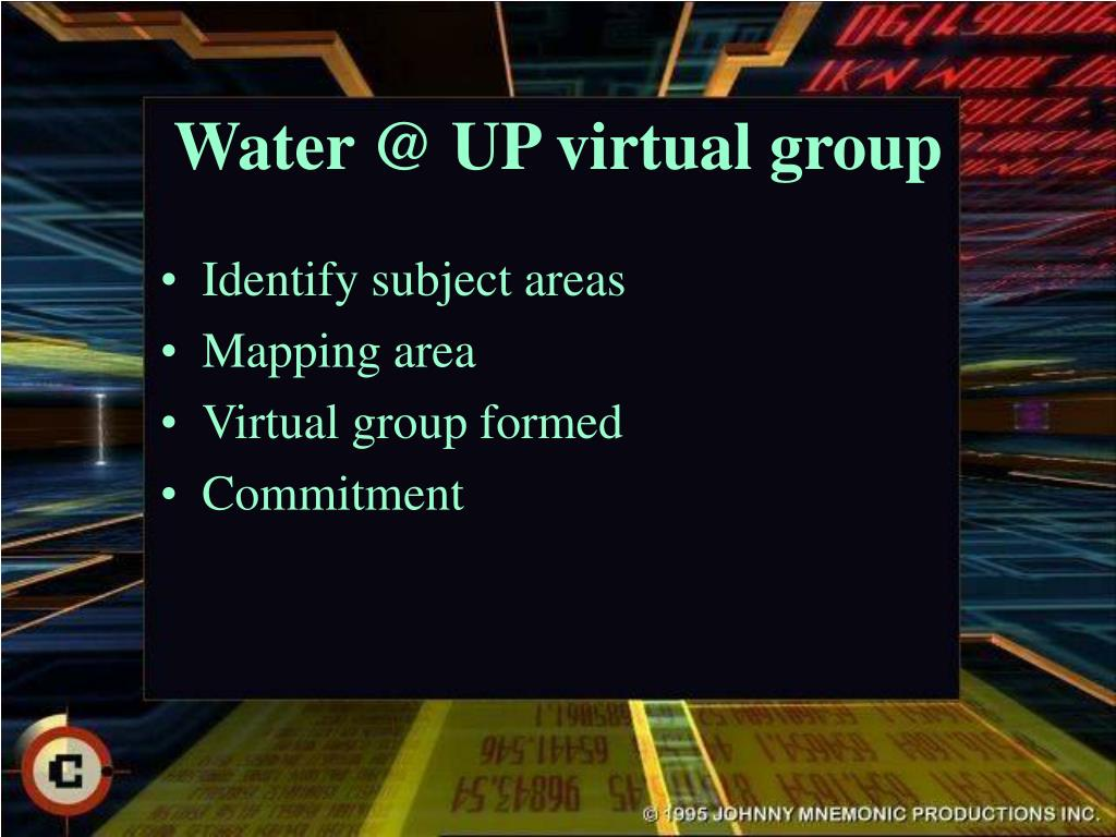 Water @ UP virtual group
