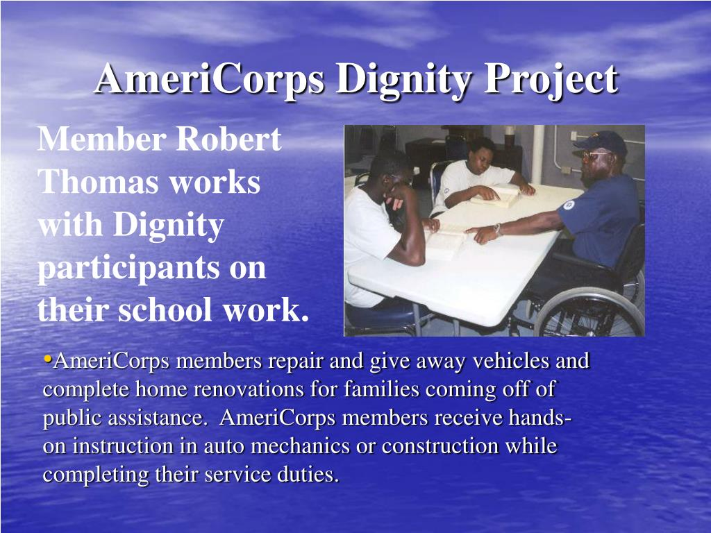 AmeriCorps Dignity Project