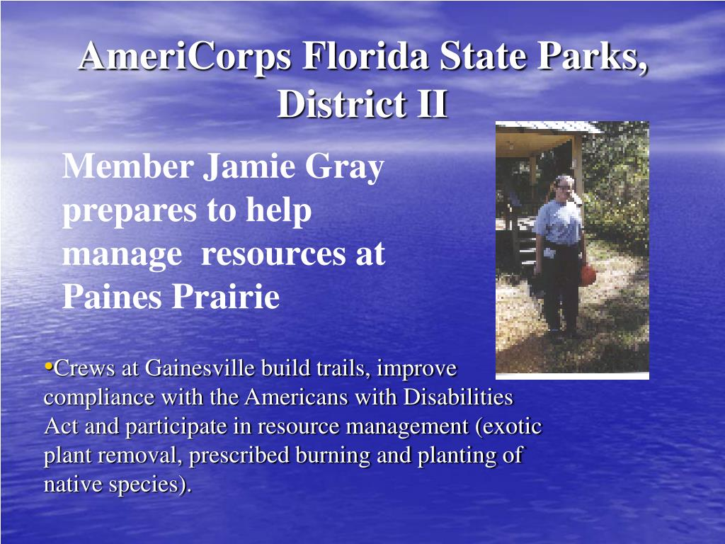 AmeriCorps Florida State Parks, District II