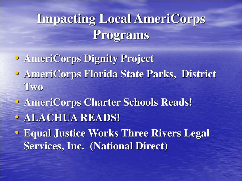 Impacting Local AmeriCorps Programs
