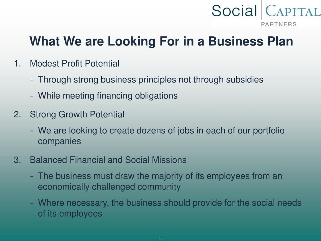 What We are Looking For in a Business Plan