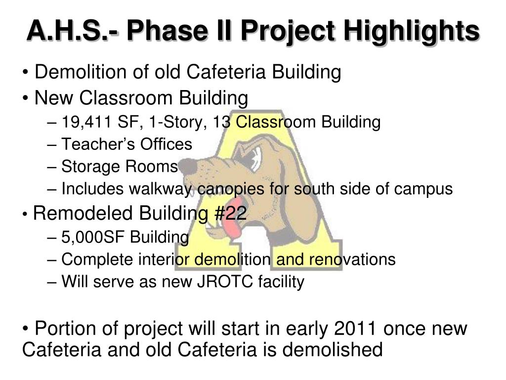 A.H.S.- Phase II Project Highlights