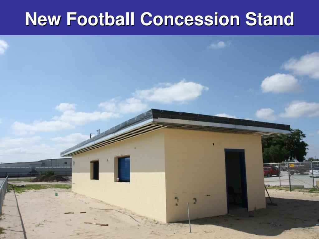 New Football Concession Stand