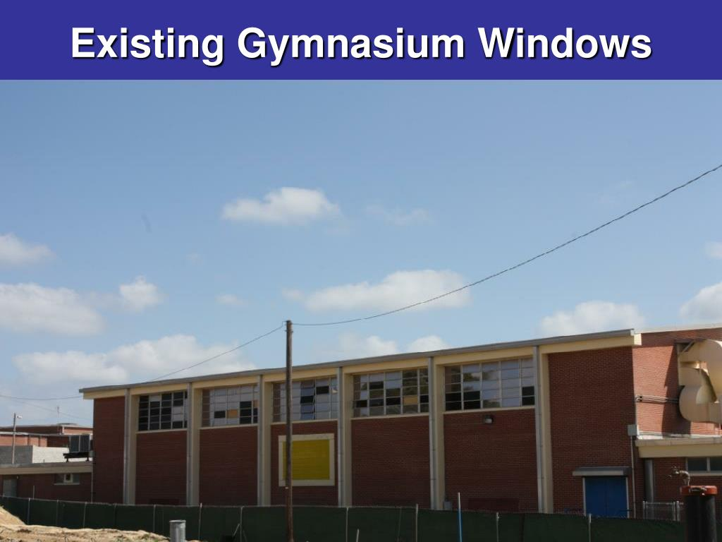 Existing Gymnasium Windows