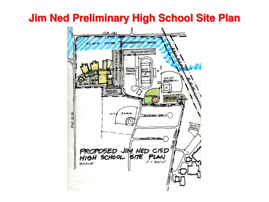 Jim Ned Preliminary High School Site Plan