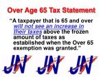 over age 65 tax statement