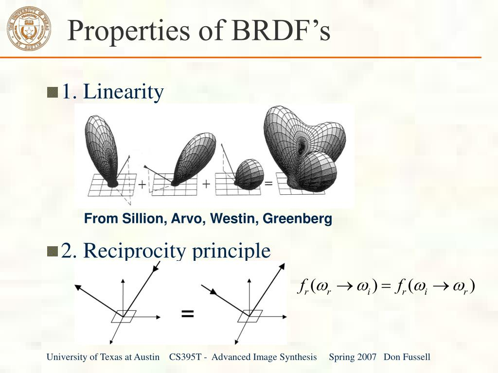 Properties of BRDF's