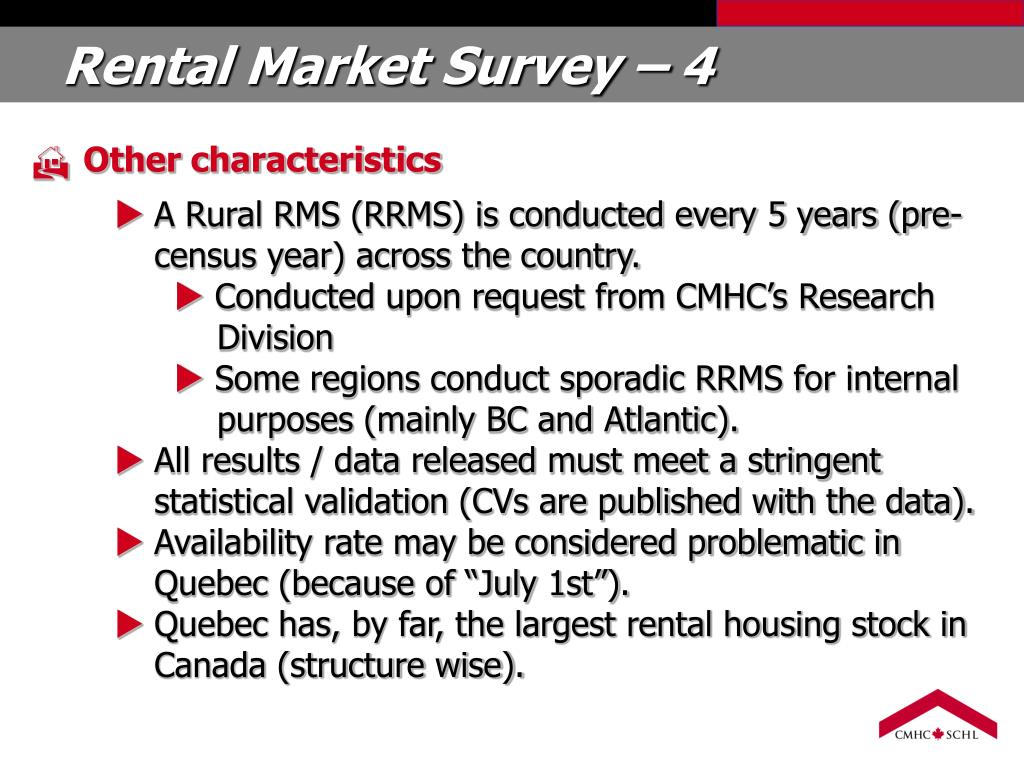 Rental Market Survey – 4