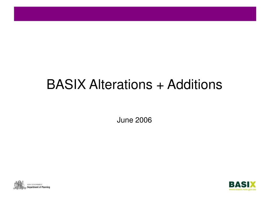 BASIX Alterations + Additions