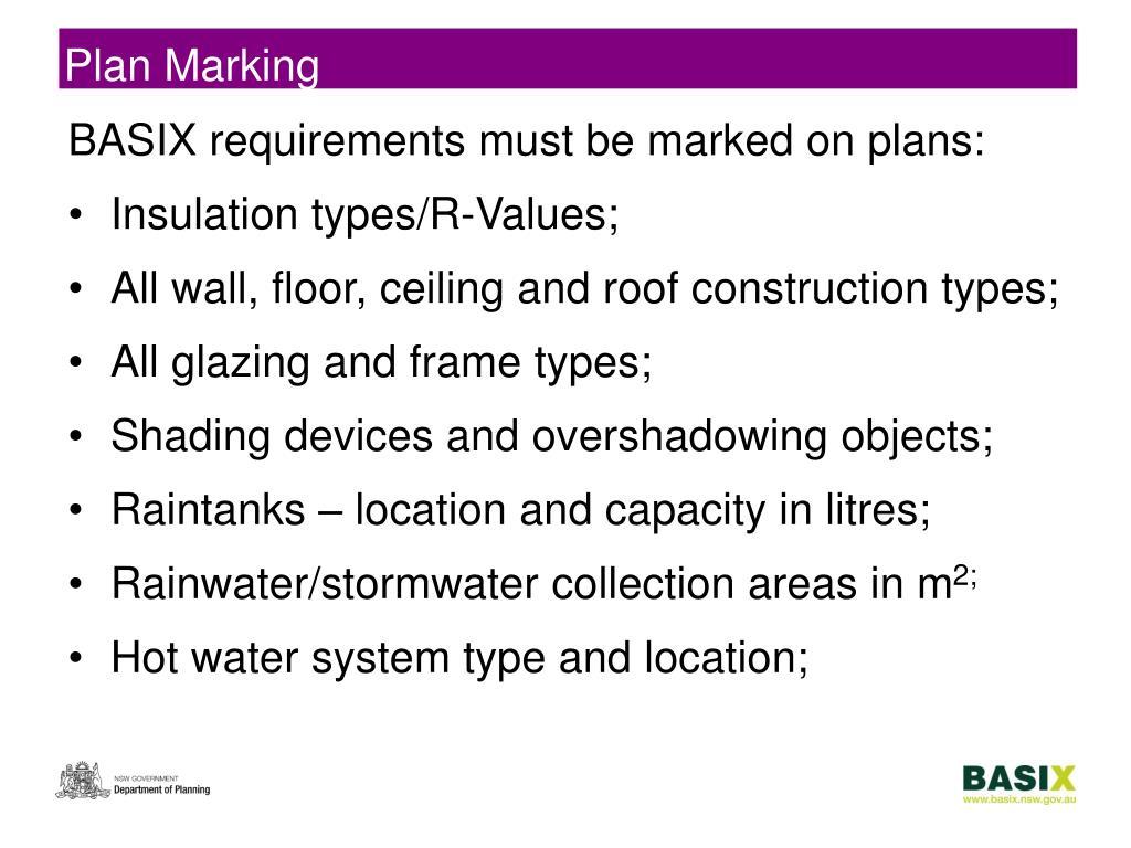 Plan Marking