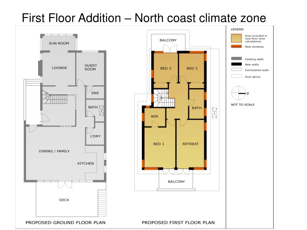 First Floor Addition – North coast climate zone